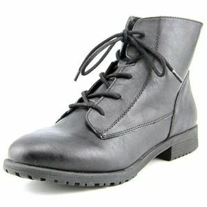 Style Co. Round Toe Ankle Combat Boots Lace Up